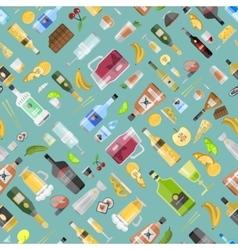 Drinks pattern vector image