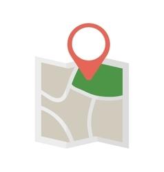 map world travel pin location vector image