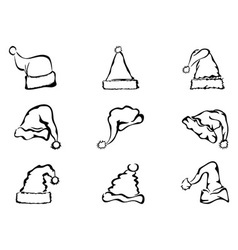 simple outline of christmas hat vector image