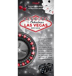 Welcome to las vegas flyer vector