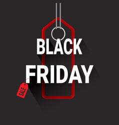 black friday red shopping tag super sale poster vector image