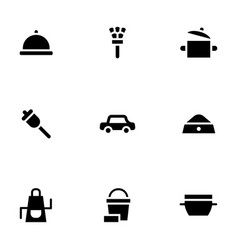 Household services simple glyph style icons vector