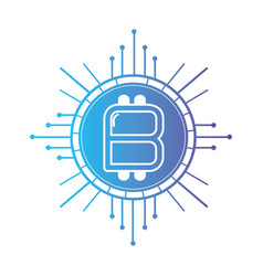 line bitcoin cryptocurrency electronic and virtual vector image vector image