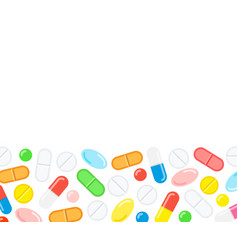 medical capsule pills background vector image