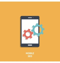 Mobile Seo Icon vector image vector image