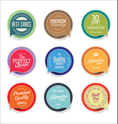 modern sale sticker and tag colorful collection 4 vector image