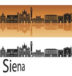 Siena skyline in orange vector image vector image