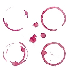 Wine Stain Rings Set 1 vector image
