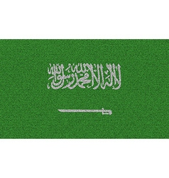 Flags Saudi Arabia on denim texture vector image vector image