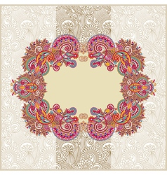 ornamental template with floral background vector image