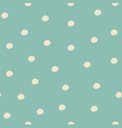 seamless pattern with falling snowflakes and dots vector image