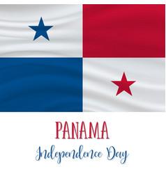 3 november panama independence day background vector image