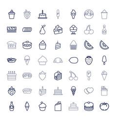 49 dessert icons vector