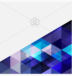 Abstract blue tone geometric layout template and vector
