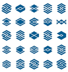 Abstract creative icons collection abstract vector image