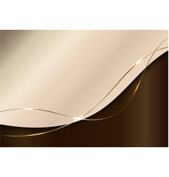 Abstract elegant shiny brown curved shape vector