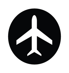 Airplane symbol icon vector image