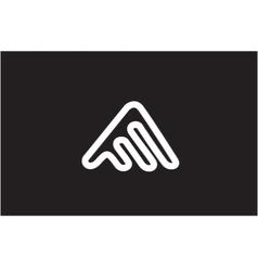 Alphabet letter A line logo icon design vector