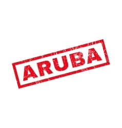 Aruba Rubber Stamp vector image
