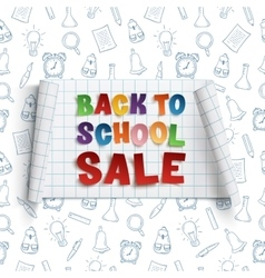 Back to School Sale curved banner vector