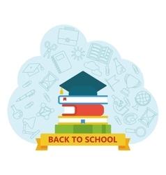 back to school university cap vector image