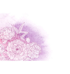 beautiful horizontal floral backdrop decorated vector image