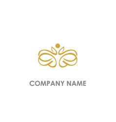 beauty decoration ornament logo vector image