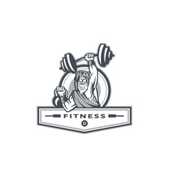 Berserker Lifting Barbell Kettlebell Fitness vector