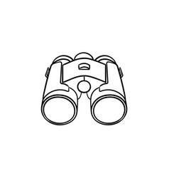 binoculars hand drawn outline doodle icon vector image