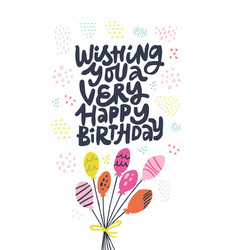 birthday flat hand drawn vector image
