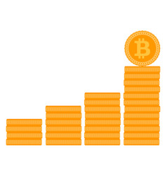 bitcoin stack ladder or stairs vector image