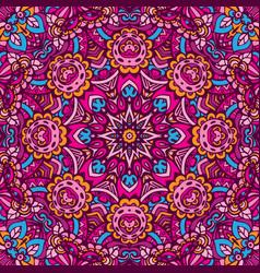 Bohemian geometric floral mandala print vector