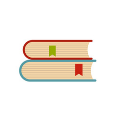 book college icon flat style vector image