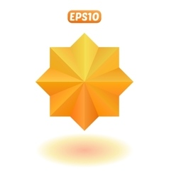 Bright gold star vector