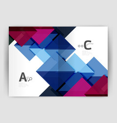 business brochure or leaflet a4 cover template vector image