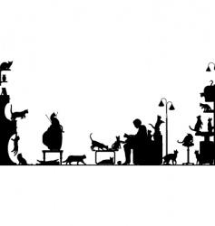 cat room vector image