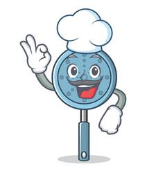 Chef skimmer utensil character cartoon vector