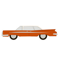 classic american retro car 1960 auto design vector image