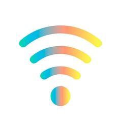 Colored wifi icon vector
