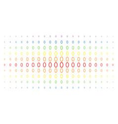 Contour ellipse spectral halftone pattern vector
