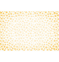 cute golden stars wide background on white vector image