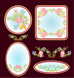 Decorative frames with floral pattern vector image