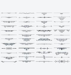 Dividers design element vintage set vector