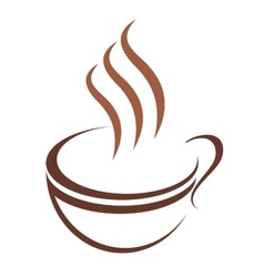 Doodle sketch cup of steaming hot beverage vector