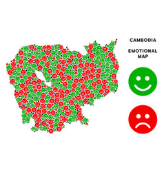 Emotional cambodia map composition of vector