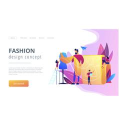 Fashion design concept landing page vector