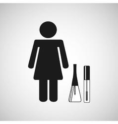 female makeup design vector image