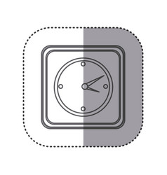 figure emblem wall clock time vector image