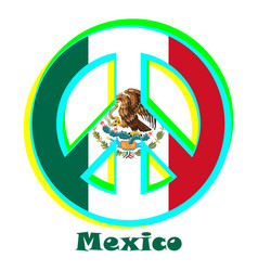 Flag of mexico as a sign of pacifism vector