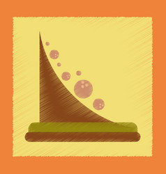 Flat shading style icon mountain rocks vector